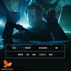 Peeta Mellark… The voice of reason that keeps Katniss going.