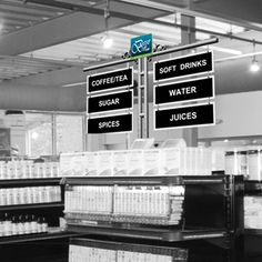 metal aisle sign for retail   P1344 - PRIME ENDCAP - Gondola End Cap Display - Aisle Signs for Stores