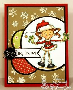 "Paper Perfect Designs by Kim O'Connell: Kraftin' Kimmie Stamps ""Holiday Lulu and Libby"" stamp set"