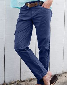 Streamlined and slimmed down, the Safari Ankle Pants will become your favorite casual pants made with a hint of stretch. Twill tape detailing down the sides, front and back pockets, and stitch detailing. Fashion Essentials, Style Essentials, How To Slim Down, Ankle Pants, Casual Pants, Safari, Lady, Cotton