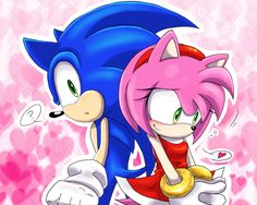 Sonic and Amy. This is cute :)