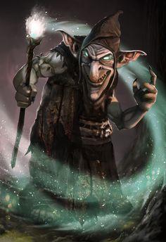 Fantasy Wizard, Fantasy Races, Fantasy Monster, High Fantasy, Fantasy Rpg, Dungeons And Dragons Characters, D&d Dungeons And Dragons, Fantasy Characters, Goblin Art