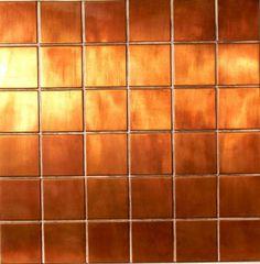 "Copper 2"" x 2"" squares on a 1' x 1' sheet - instile.com"