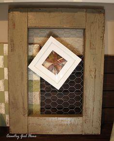 chicken wire in frame. love it.