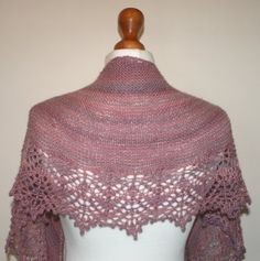 Handmade Damask Rose Shawl / Scarf. $112.00, via Etsy.