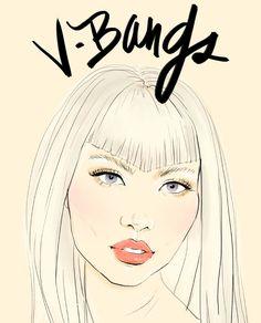 v-bangs