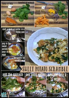Sweet Potato Scramble Quick & easy for Breakfast, lunch or dinner. Packed with all the good stuff. #breakfast #healthyfood
