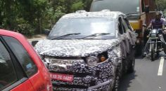 Mahindra S101 front and rear quarter revealed in new spy shots | Rush Lane