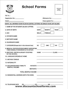 10 Best School admission form images in 2019   School
