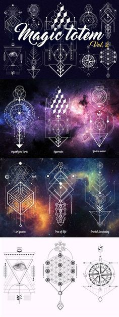 Fractal Awakening with Matrix code as central line. Sacred Geometry. Magic totem vol.2 by Aleksandra Slowik