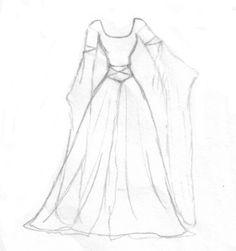 Medieval Dress Design 1 by aelthwyn. on - - Medieval Dress Design 1 by aelthwyn.devianta … on – Source by - Dress Design Drawing, Dress Design Sketches, Fashion Design Sketchbook, Dress Drawing, Fashion Design Drawings, Drawing Clothes, Fashion Sketches, Dress Designs, Fashion Drawing Dresses