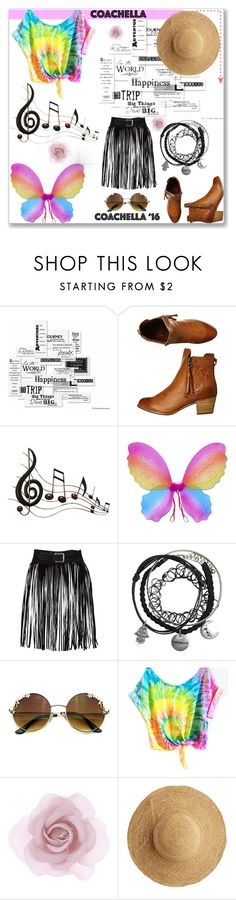"""""""#coahella"""" by collinsangelface110 ❤ liked on Polyvore featuring Vellum, Billabong, Benzara, Accessorize, Flora Bella, rainbow and fashion_addict"""