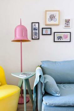 Appartement lumineux et décoration colorée