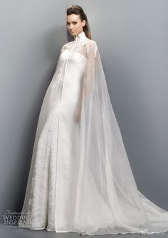 bridal cape by Jesus Peiro 2011 wedding dress collection -- Jesus Peiro Wedding Dresses 2011 Collection Dream Wedding Dresses, Bridal Dresses, Wedding Gowns, Bridesmaid Dresses, Wedding Cape Veil, Dresses Dresses, Red Wedding, Summer Wedding, Wedding Cake