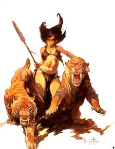 Comic Book Artist: Frank Frazetta | Abduzeedo | Graphic Design Inspiration and Photoshop Tutorials