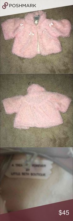 toddler 6-18mths coat eyelash fur coat wl bows great condition 6-18 mths but my daughter wore it when she was 2 sleeves are suppose to be 3 quarter legnth Jackets & Coats Capes