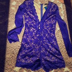 🔥LONG SLEEVE LACE LINED DEEP V ROMPER🔥NWT🔥 🎉LONG SLEEVE LACE LINED DEEP V ROMPER🎉SIZE SMALL. BY OLIVACIOUS. COLOR IS A RICH ROYAL BLUE AND FULLY LINED WITH A NUDE COLOR. DEEP V NECK FROMT WITH HOOK AND EYE CLASPS FOR THE ULTIMATE IN CLEAVAGE CONTROL🙌🏻👌🏻😘❤️ SO FREAKING CUTE- PERFECT FOR GOING OUT WITH YOUR GIRLS! FULL ZIP BACK. BRAND NEW!! tags attached!! OLIVACEOUS Other