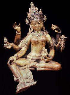 Fig. 20. Vasudhara. Gilt copper. Nepal, twelfth century. H. 16.5 cm. Formerly Heeramaneck Collection © Heeramaneck Collection