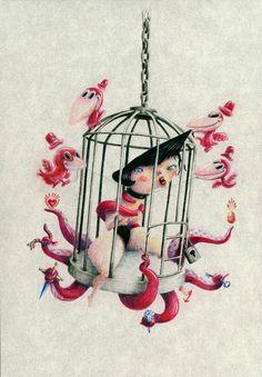 THE BIRDS by javier verdugo, via Behance