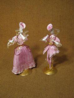 ███►Rarität altes Tanzpaar aus Murano-Glas ca. um 1955/Abrißglas