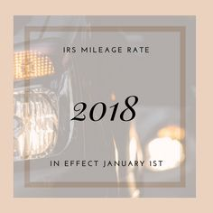 The IRS Standard Mileage rate has been adjusted 1 cent higher for Accounts Payable, Accounting, Ceiling Lights, Outdoor Ceiling Lights, Ceiling Fixtures, Ceiling Lighting