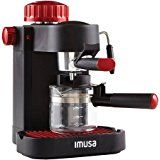 4-Cup Red Espresso/Cappuccino Maker