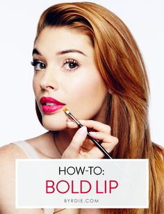How to master a bold lip: An easy 5-step #tutorial with celebrity #makeup artist Lauren Andersen. // #Beauty