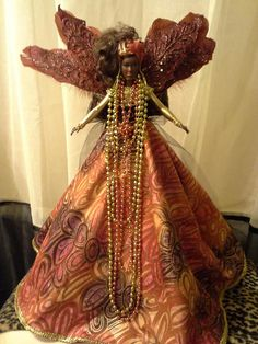 African American Angel Tree Topper Pretty Wings Collection