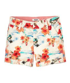 Another great find on #zulily! Cream Flamingo Shorts - Toddler & Girls by RUUM #zulilyfinds
