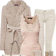 casaco em trico branco