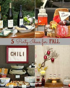 Four fun fall ideas...  Say that three times fast!