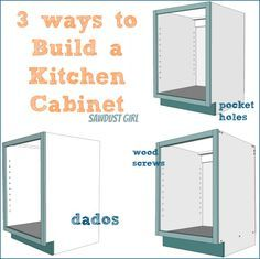 Three ways to build a basic kitchen cabinet --- good pro/con for each method, too.