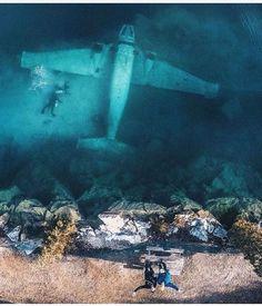 scuba underwater  airplane
