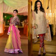 Photography by Moazzam azam Dulhan Dress, Pakistani Dresses, Mina Hasan, Chiffon Dresses, Salwar Kameez, Mehndi, Party Wear, Beautiful Dresses, Sequin Skirt