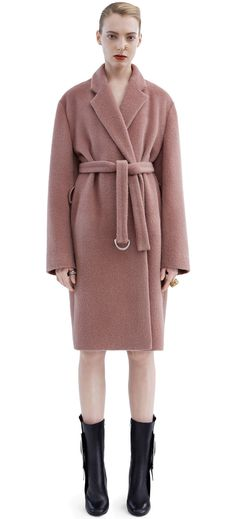Acne Studios Elga Hairy Dusty Pink Robe inspired coat | |LB ...