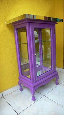 Ateliando - Customização de móveis antigos: Cristaleira Antiga