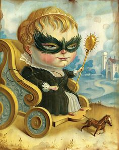Lowbrow Portraiture of Chris Buzelli - Tartuffe's Folly
