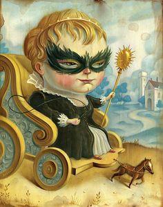 Lowbrow Portraiture of Chris Buzelli - Tartuffe's Folly