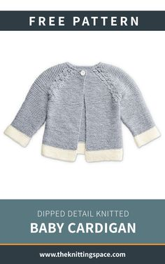 Make this lovely knitted cardigan for your little one in time for the fall and winter seasons. This piece is ideal for special occasions. Free Baby Sweater Knitting Patterns, Knit Cardigan Pattern, Knitted Baby Cardigan, Knit Baby Sweaters, Knitting For Kids, Baby Patterns, Free Knitting, Baby Boy Knitting, Brei Baby