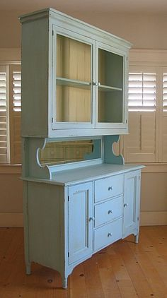 PERFECT! Tear out the broken/worn down cabinets and upgrade with a refurbished hutch!