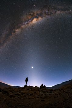 Grey Heads / The faint glow extending from the horizon in the direction of center is called zodiacal light.