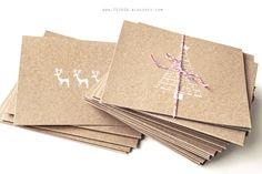 Christmas card, eco style by fojaga