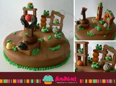 Pastel Angry Birds Fondant / Angry Birds Fondant Cake