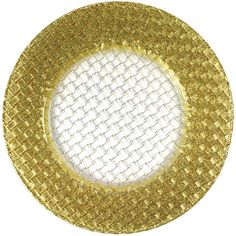 Shop The Jay Companies 1470058 13 inch Round Glass Braid Gold Glitter Charger Plate. Gold Sparkle, Gold Glitter, Glitter Charger, Charger Plates, Joss And Main, Wedding Wear, Glass Design, Baby Clothes Shops, Mens Gift Sets