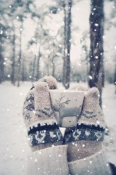 snowy winter, snowing in Alaska again, mittens, reindeer mug, wintertime. Winter is by far my favorite time of year. Winter Szenen, I Love Winter, Winter Magic, Winter Is Coming, Winter Season, Winter Christmas, Christmas Time, Alaska Winter, Hello Winter