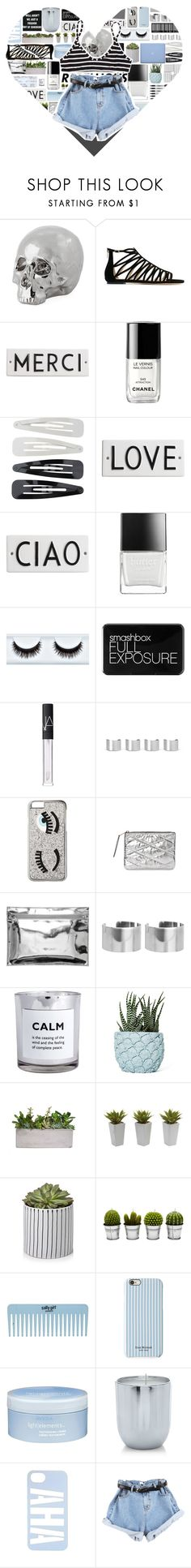 """""""♥"""" by xgracieeee ❤ liked on Polyvore featuring Jimmy Choo, Sharpie, Rosanna, Chanel, Forever 21, Butter London, Smashbox, NARS Cosmetics, Maison Margiela and Chiara Ferragni"""