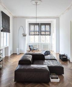 Interior Apartment. Modern Apartment Interior Design Ideas. Dark ...