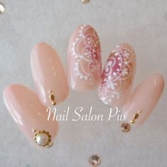 Piuさんも使ってるネイルブック。毎日最旬新着ネイル続々♪流行のデザインが丸わかり! Bridal Nails, Wedding Nails, Japan Nail, Mandala Nails, Finger, Japanese Nail Art, Shiny Nails, Elegant Nails, Gel Nail Art