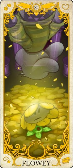 Undertale Tarot Cards: Flowey the Flower
