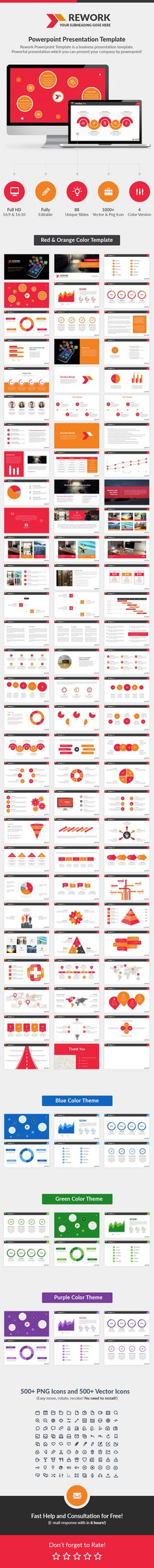 rework instructions template - business report powerpoint template powerpoint templates